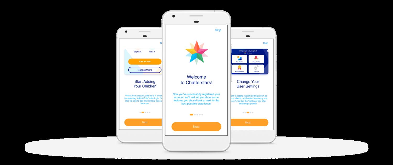 ChatterStars App Screens Onboard
