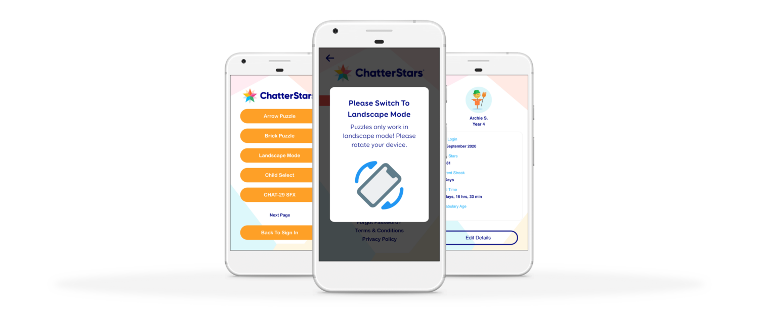 ChatterStars App Screens Starting Puzzles