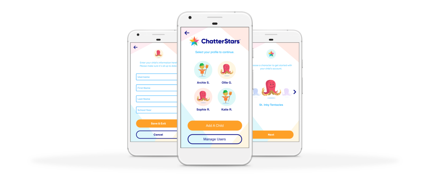 ChatterStars App Screens New Users